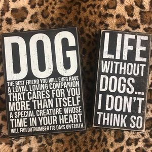 Dogs Wooden Sign Decor